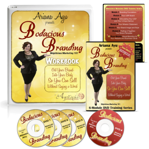 Mojolicious Marketing 101: Bodacious Branding DVD set and Worksbook